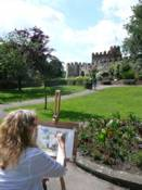 Painting in the grounds of Hertford Castle