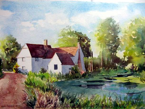 Willy Lot's Cottage, Flatford - Watercolour - 21 x 32cm