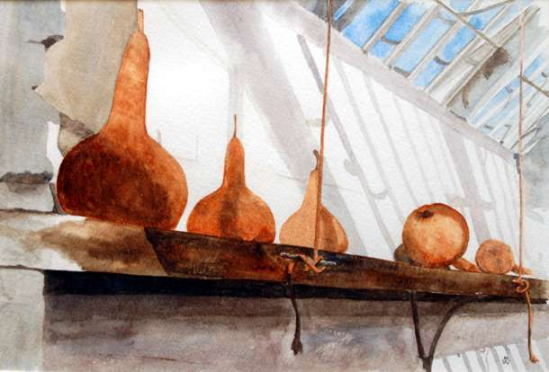 Gourd House - Watercolour