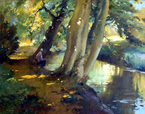 By the Mimram, Hertingfordbury - Oils - 70 x 90cm