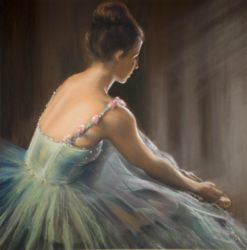 Waiting in the wings by Chris Baker - Pastel