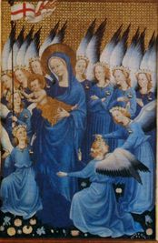 The Wilton Diptych - Tempera on wood by an unknown artist c.1395.