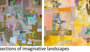Sections of imaginative landscapes - 300gsm not watercolour paper