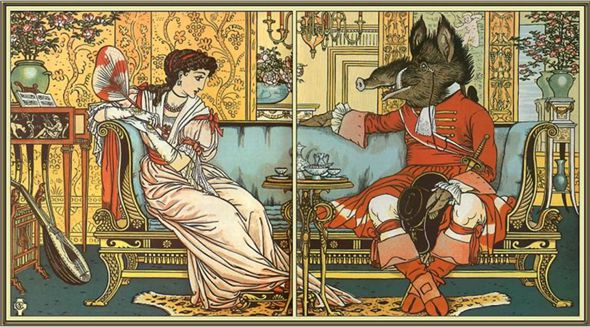Beauty and the Beast by Walter Crane 1847